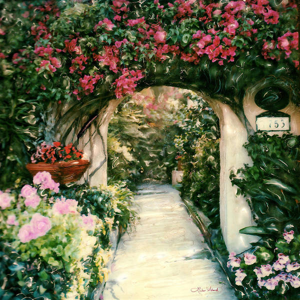 Floral Poster featuring the photograph La Jolla Bed And Breakfast by Linda Scharck