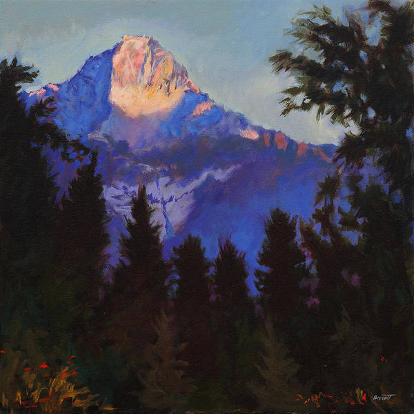 Glacier Poster featuring the painting Last Rays by Robert Bissett