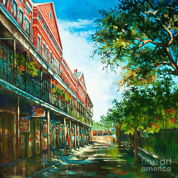 New Orleans Art Poster featuring the painting Late Afternoon On The Square by Dianne Parks