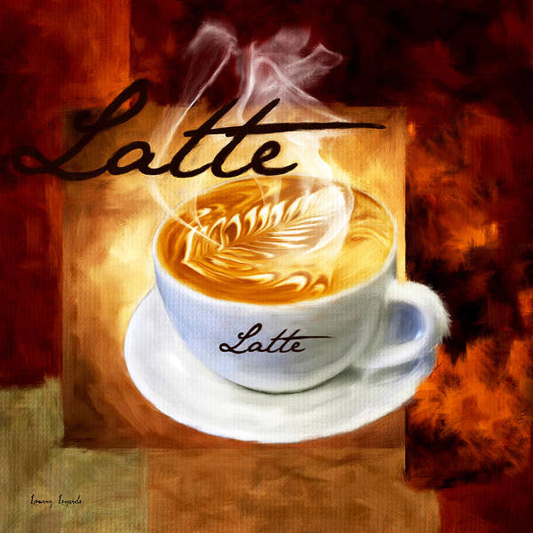 Coffee Poster featuring the digital art Latte by Lourry Legarde
