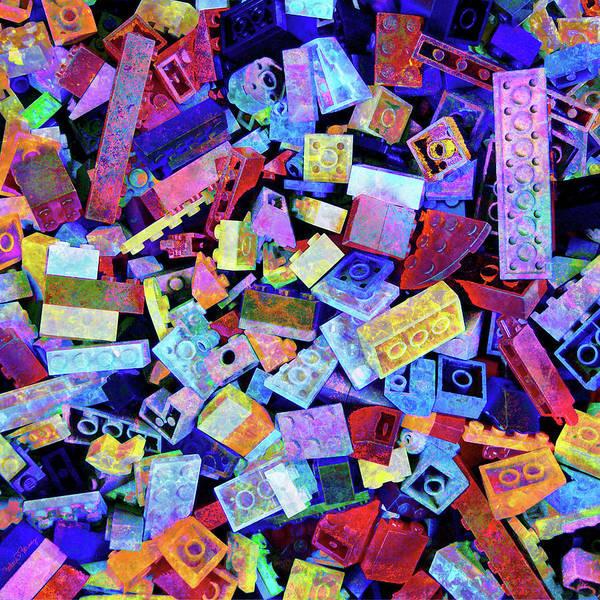 Lego Poster featuring the digital art Legos by Barbara Berney