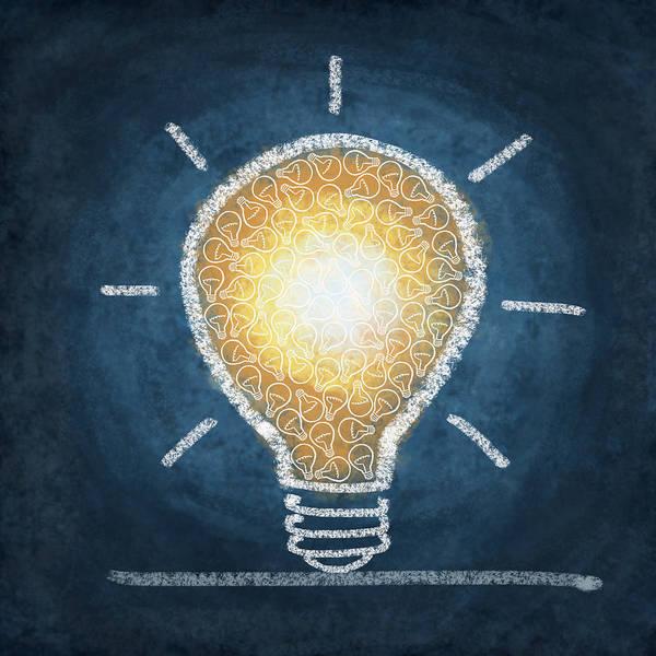 Art Poster featuring the photograph Light Bulb Design by Setsiri Silapasuwanchai