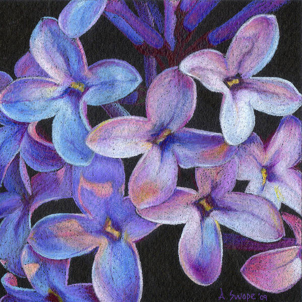 Flower Poster featuring the painting Lilac 3 by Andrea Swope