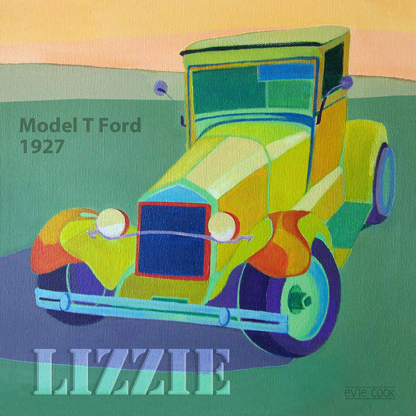 Ford Poster featuring the digital art Lizzie Model T by Evie Cook