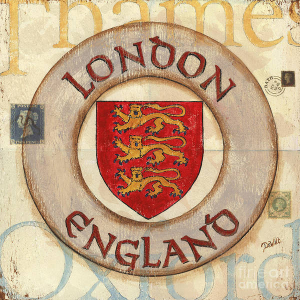 London Poster featuring the painting London Coat Of Arms by Debbie DeWitt