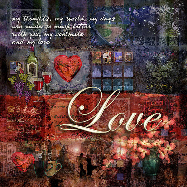 Heart Poster featuring the digital art Love by Evie Cook
