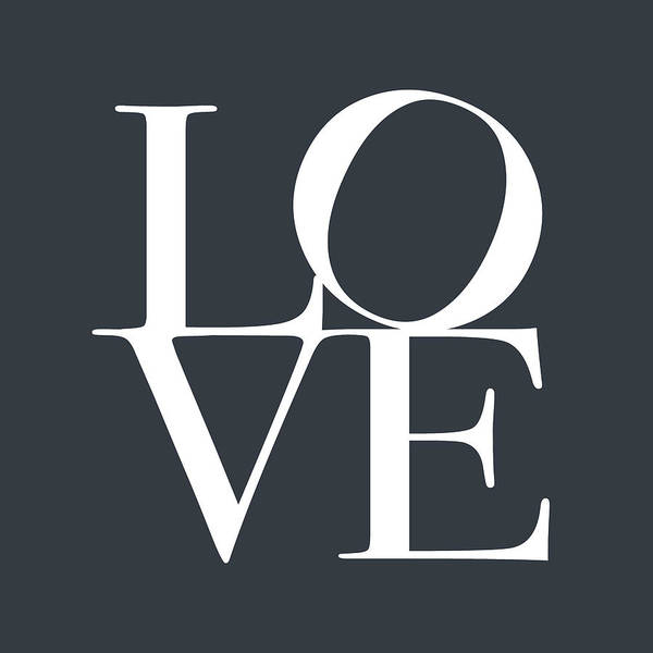 Love Poster featuring the digital art Love In Slate Grey by Michael Tompsett
