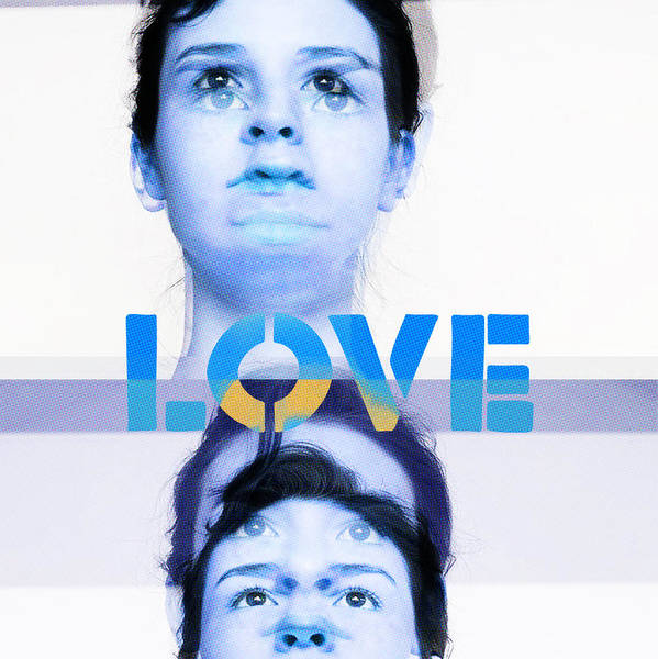 Poster featuring the painting Love by Maciej Mackiewicz