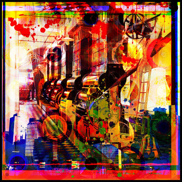 Digital Photographic Vector Montage Poster featuring the painting Machine Age-1 by Gary Grayson
