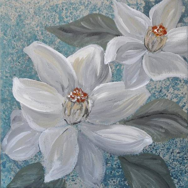 Poster featuring the painting Magnolia Melody by Amy Chenoweth