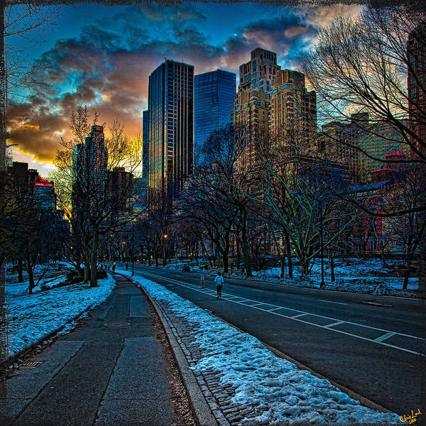 Central Park Poster featuring the photograph Manhattan Sunset by Chris Lord