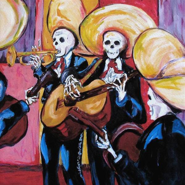 Mariachi Poster featuring the painting Mariachi IIi by Sharon Sieben
