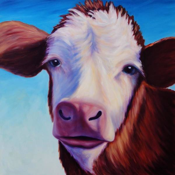 Cow Poster featuring the painting Marie by Shannon Grissom