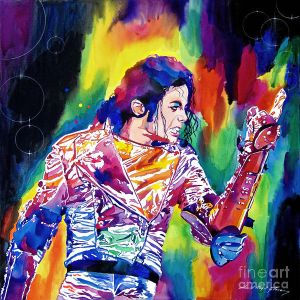 Michael Jackson Poster featuring the painting Michael Jackson Showstopper by David Lloyd Glover