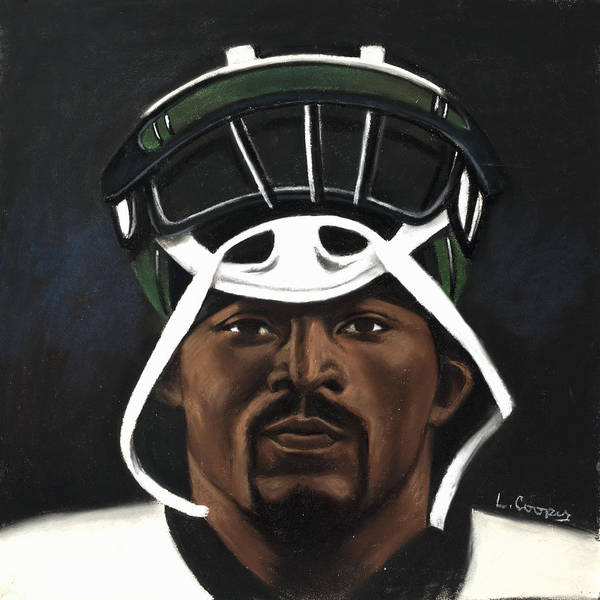 L Cooper Poster featuring the pastel Mike Vick by L Cooper