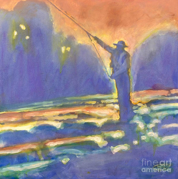 Fishing Poster featuring the painting Miracle Moment by Kip Decker