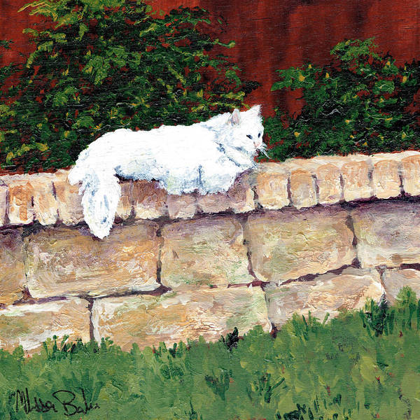 Cat. Feline Poster featuring the painting Miss Kitty by Melissa Barbee