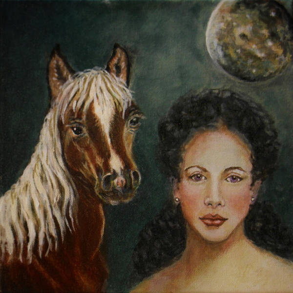 Horse Poster featuring the painting Moon Beams by The Art With A Heart By Charlotte Phillips