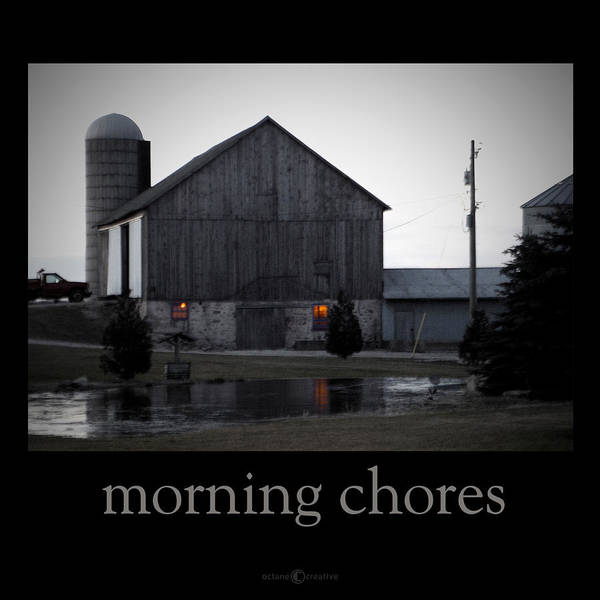 Poster Poster featuring the photograph Morning Chores by Tim Nyberg