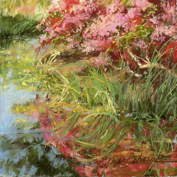Impressionism Poster featuring the pastel Morning Festival by L Diane Johnson