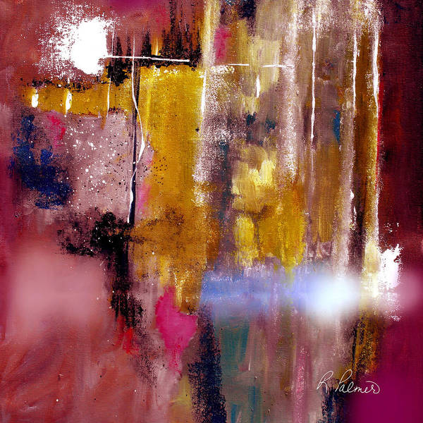 Abstract Poster featuring the painting Moving Light by Ruth Palmer