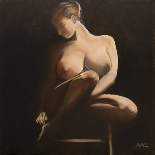 Figurative Poster featuring the painting My Coy Mistress by Jane Simpson