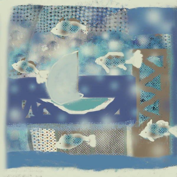 Fish Poster featuring the digital art My Dream's Journey by Aliza Souleyeva-Alexander