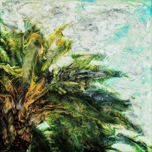 Paul Tokarski Poster featuring the photograph Mystical Palm by Paul Tokarski
