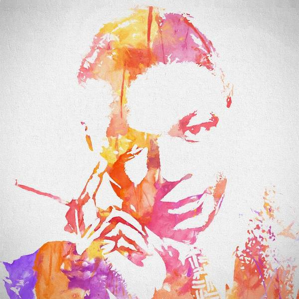 Nat King Cole Watercolor Poster featuring the painting Nat King Cole Watercolor by Dan Sproul