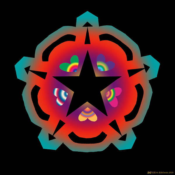 Pentacle Poster featuring the digital art New Star 6 by Eric Edelman