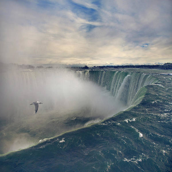 Square Poster featuring the photograph Niagara Falls by Istvan Kadar Photography