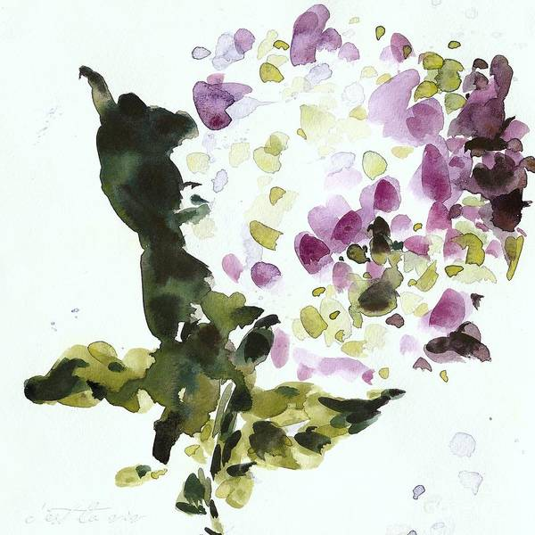 Watercolor Poster featuring the painting Night Geraniums by C'est La Viv
