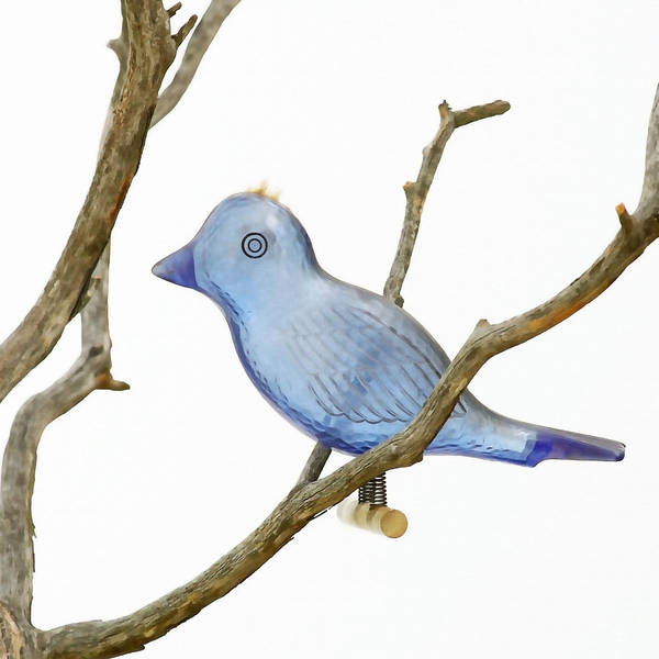 Bird Ornament Poster featuring the photograph Old Bluebird Ornament by Art Block Collections