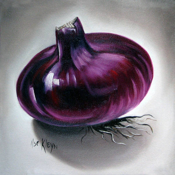 Kitchen Poster featuring the painting Onion by Ilse Kleyn
