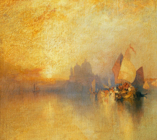 Thomas Moran Poster featuring the painting Opalescent Venice by Thomas Moran