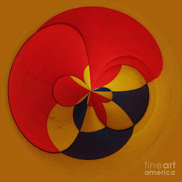 Abstract Poster featuring the digital art Orb 9 by Elena Nosyreva