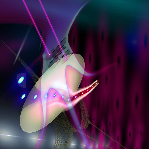 Abstract Poster featuring the digital art Ovary by Aleksandar Zisovski