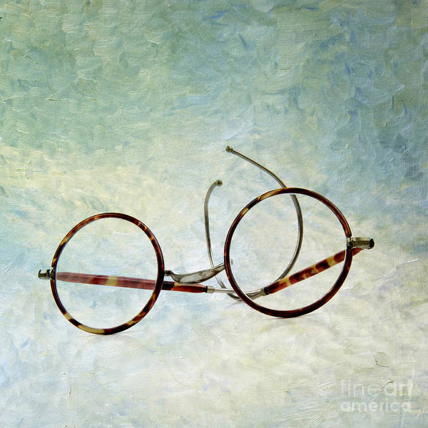 Texture Poster featuring the photograph Pair Of Glasses by Bernard Jaubert