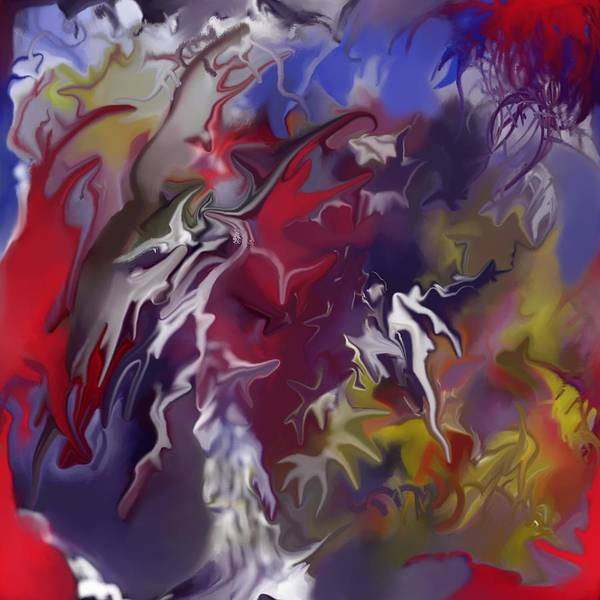 Abstract Poster featuring the painting Passion For Creating by Peter Shor