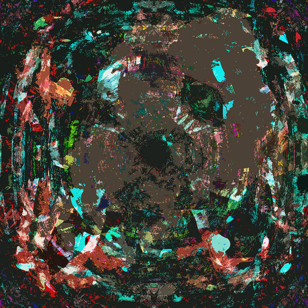 Abstract Poster featuring the digital art Passo by Blind Ape Art
