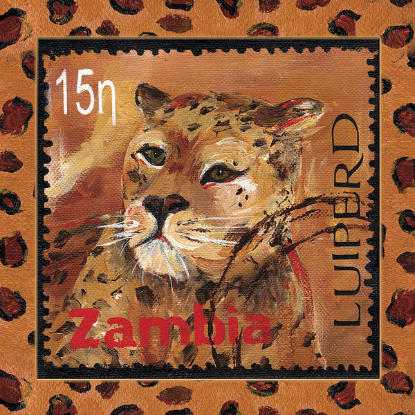 Leopard Poster featuring the painting Pawsing On The Spot by Debbie McCulley