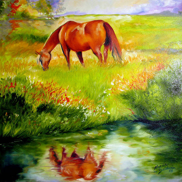 Horse Poster featuring the painting Peace by Marcia Baldwin