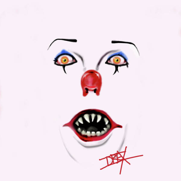 Pennywise Poster featuring the digital art Pennywise The Clown by Danielle LegacyArts