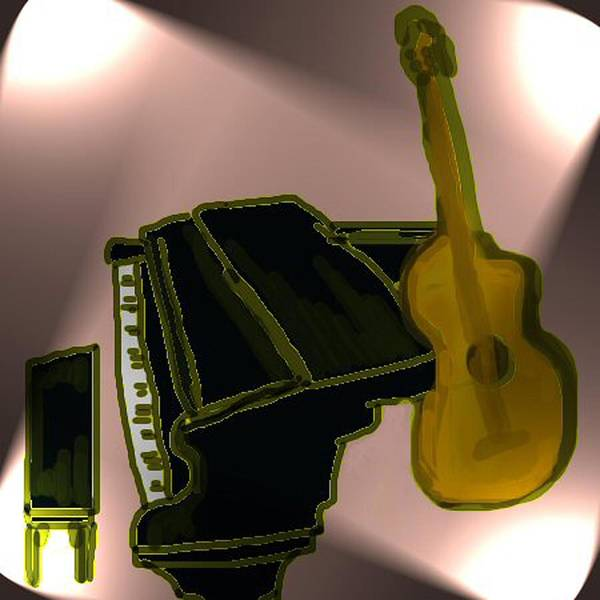 Piano Poster featuring the digital art Piano And Guitar by Carole Boyd