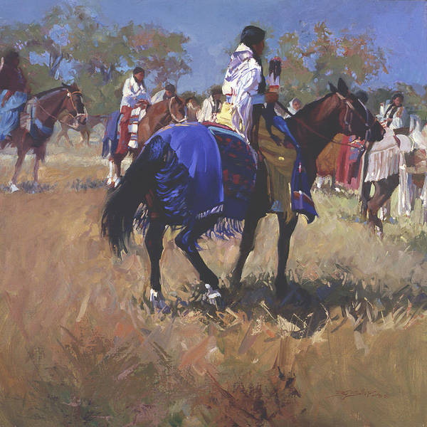 Horses Poster featuring the digital art Place Of The Sun L. E. P. by Betty Jean Billups
