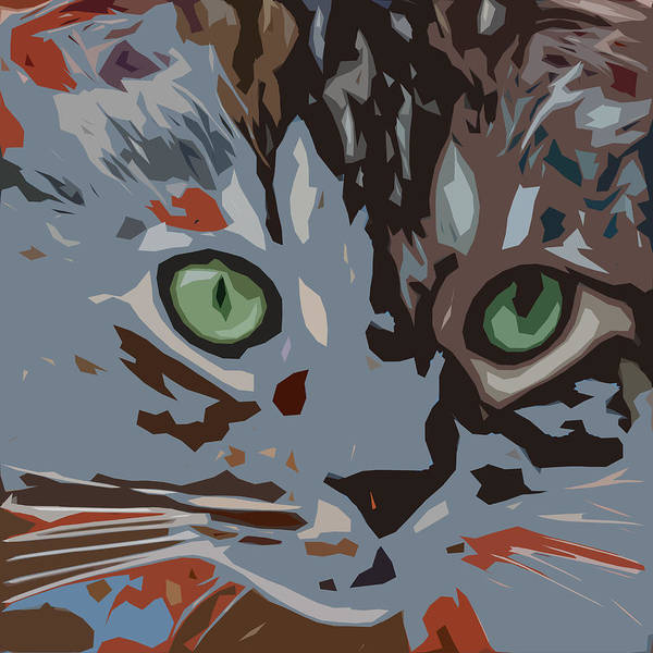 Cat Poster featuring the digital art Purrfection by David G Paul