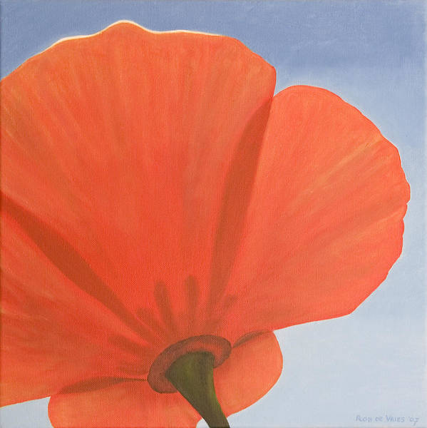Flower Poster featuring the painting Poppy by Rob De Vries