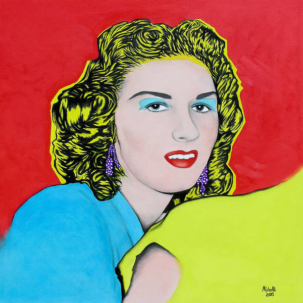 Portrait Poster featuring the painting Portrait Of My Mother by Joe Michelli