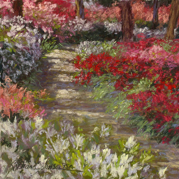 Azalea Garden Poster featuring the painting Pure Joy by L Diane Johnson