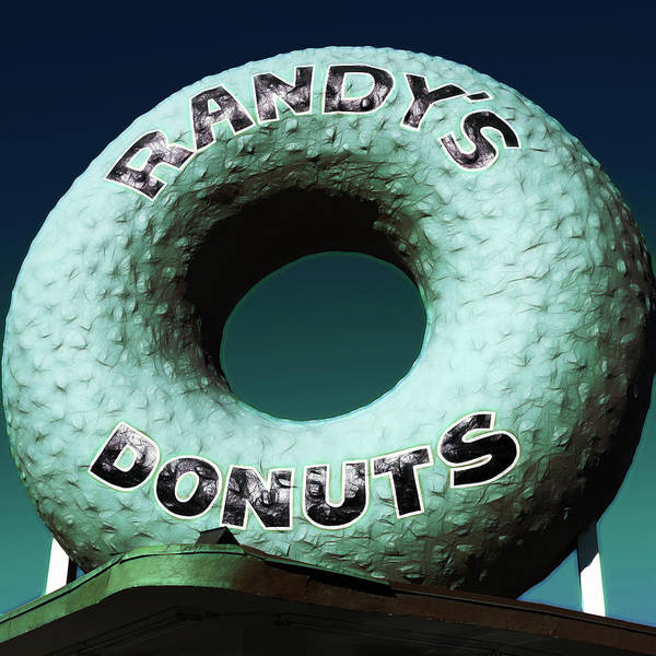 Randy's Donuts Poster featuring the photograph Randy's Donuts - 12 by Stephen Stookey
